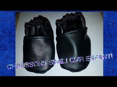 DIY chaussons cuir de récup!