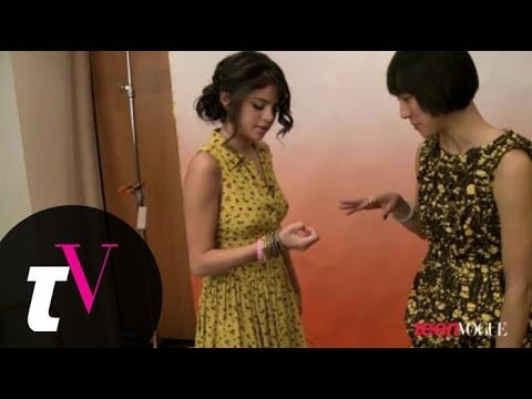 Behind-the-scenes with Selena Gomez on the set of her Teen Vogue photoshoot