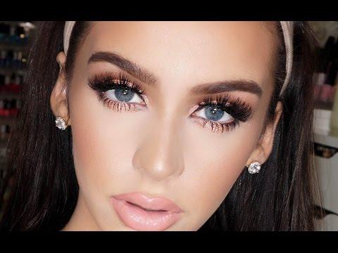 Peachy Pink FULL FACE PROM Makeup Tutorial
