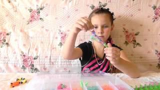 Обзор набора 4400 резиночек Rainbow Loom и урок плетение простого браслета для начинающих