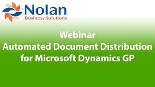 Draycir Webinar: Automated Document Distribution for Microsoft Dynamics GP