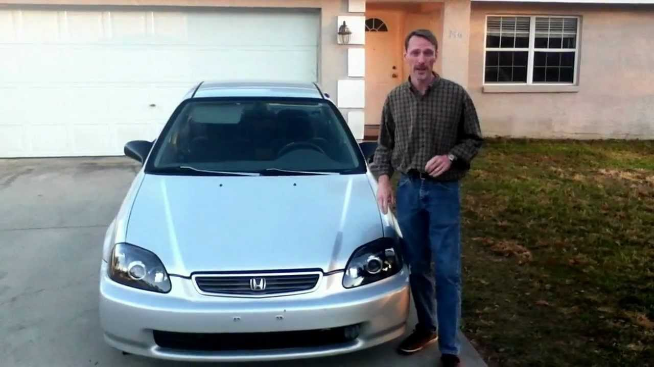 96 civic 2nd upgrade projector headlights youtube. Black Bedroom Furniture Sets. Home Design Ideas