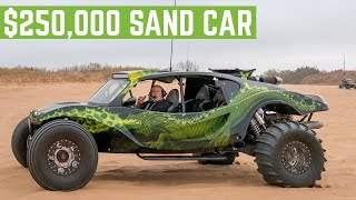 Hitting The SAND DUNES In A $250,000 LS3 Powered SAND CAR And TOTALING A RAZR 1000