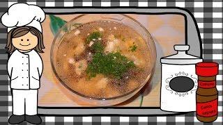 Корейский куриный суп с грибами