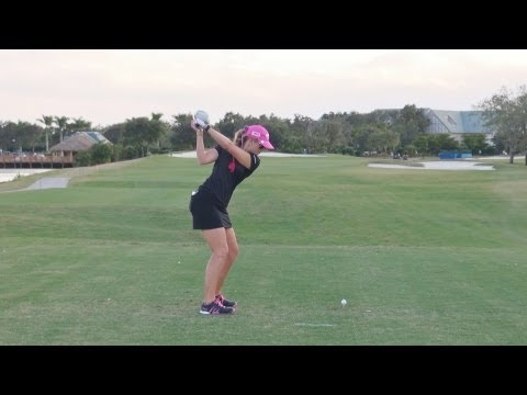 GOLF SWING 2012 - PAULA CREAMER DRIVER - DOWN THE LINE & SLOW MOTION - HQ 1080p HD
