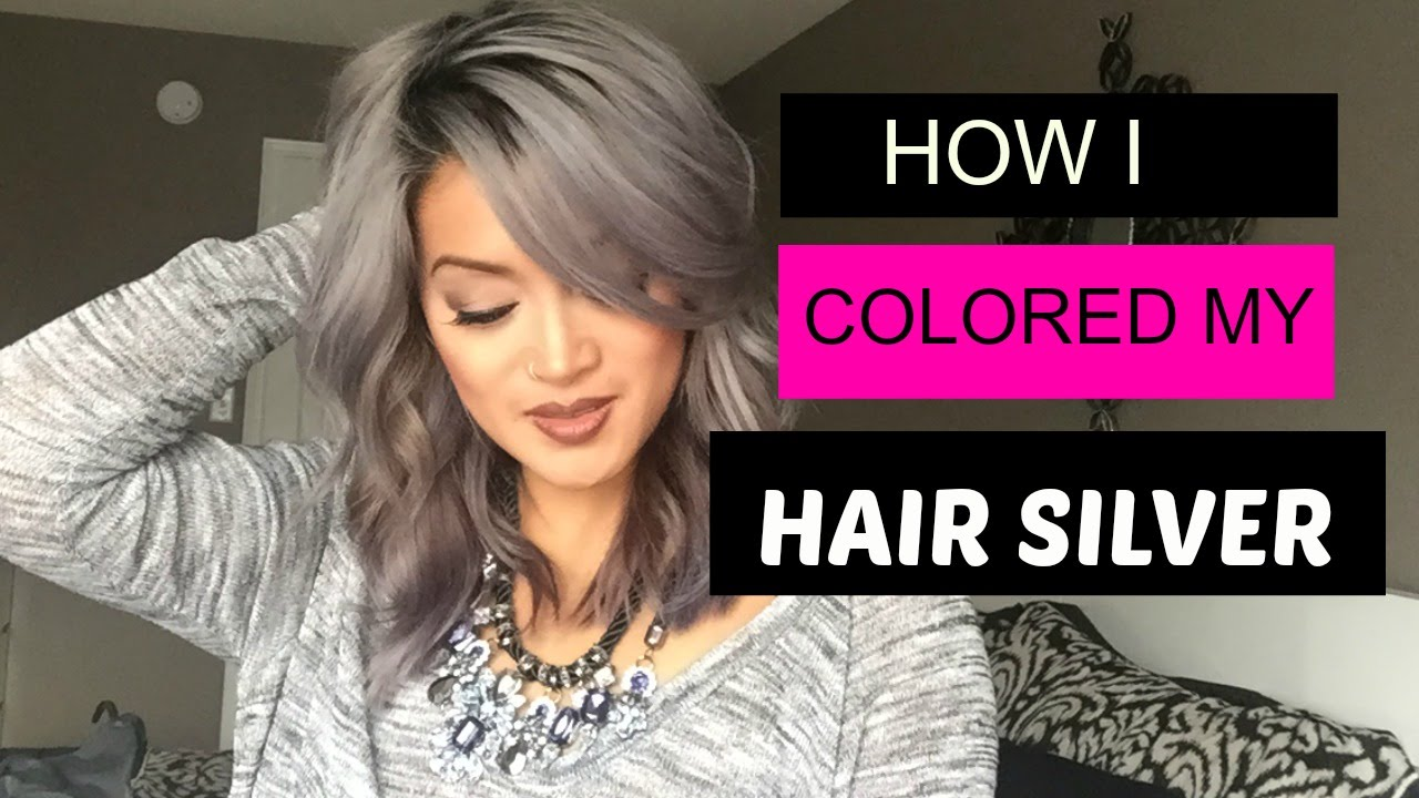 How I Colored My Hair Silver - YouTube