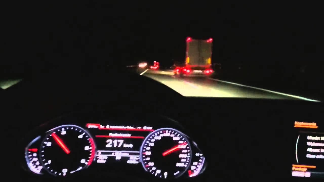 300km/h Audi A8L fast Unfall auf der Autobahn almost crash on highway