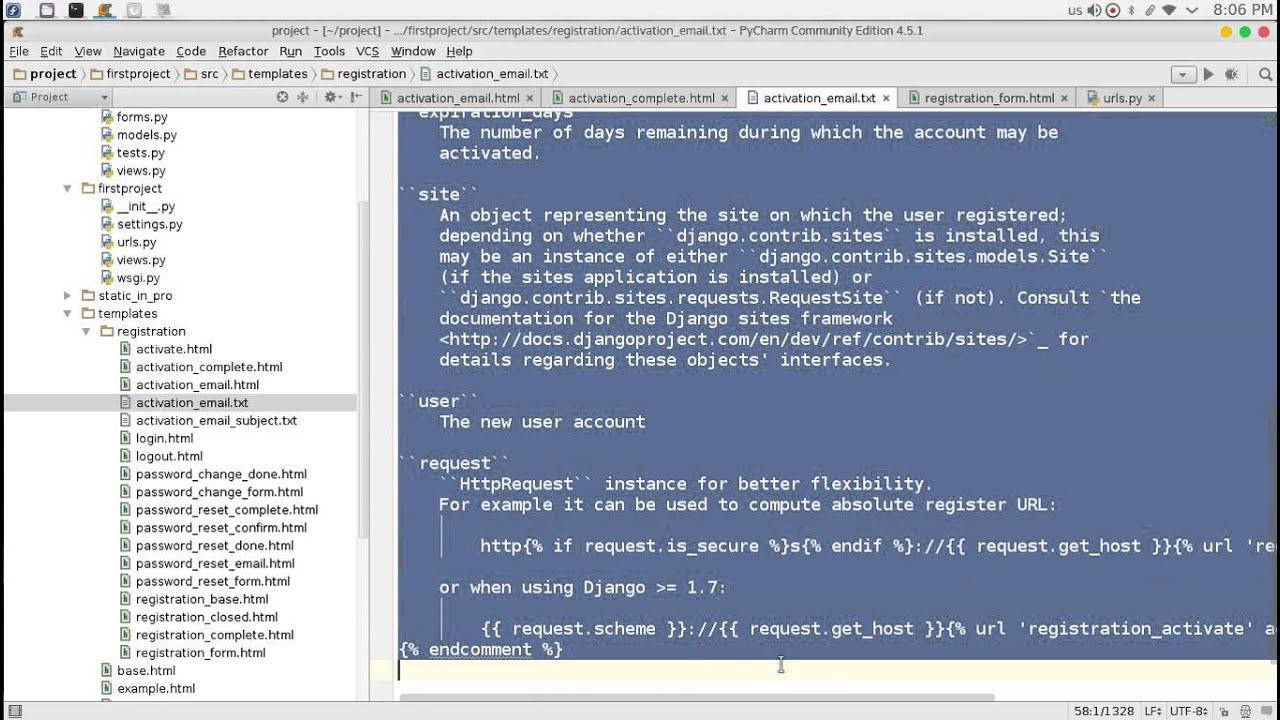 103 Python Web Django registration Redux قائمة التسجيل والدخول - YouTube