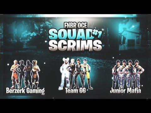 team gg junior mafia berzerk gaming team neverlucky oceania open squad scrims - fortnite scrims ps4 oceania