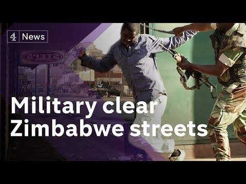 Zimbabwe election: Army patrols, deadly protests & election controversy