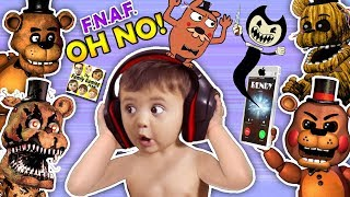 - OH NO BABY Shawn vs. FIVE NIGHTS at FREDDY S 1,2, 4 He Calls BENDY the INK MACHINE FGTEEV