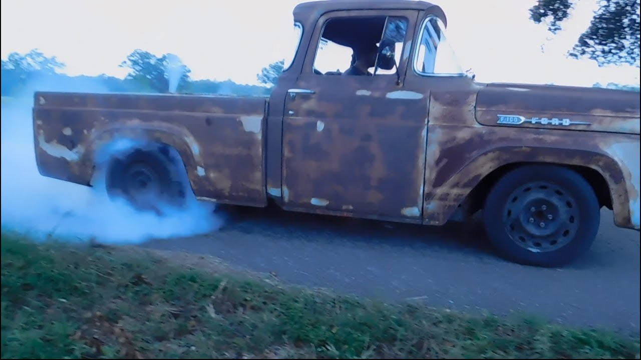 Nick's 1960 Ford F100 with Crown Vic Frame Swap