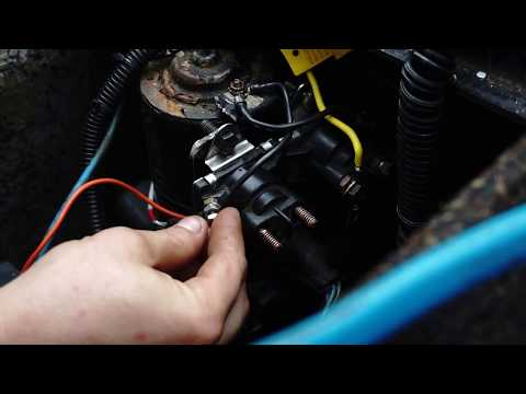 How to fix trim solenoid wiring embly Part 7 - YouTube  L Mercruiser Trim Wiring Diagram To The Solenoids on