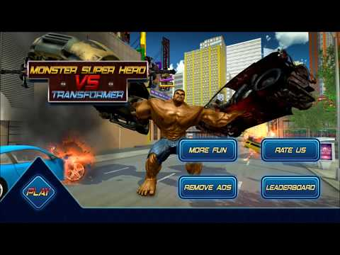 ►Monster Superhero VS Robot Transform Future Battle - Android HD Gameplay