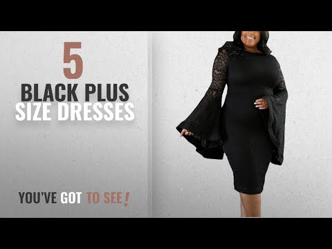 Top Black Plus Size Dresses Daci Womens Plus Size Bell Sleeves Lace Bodycon Wedding