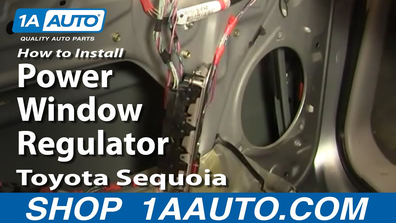 How to install replace power window regulator toyota sequoia 01 04 youtube Car window motor replacement
