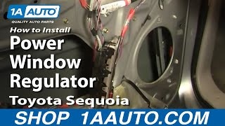 How To Install Replace Power Window Regulator Toyota Sequoia 01-04 1AAuto.com