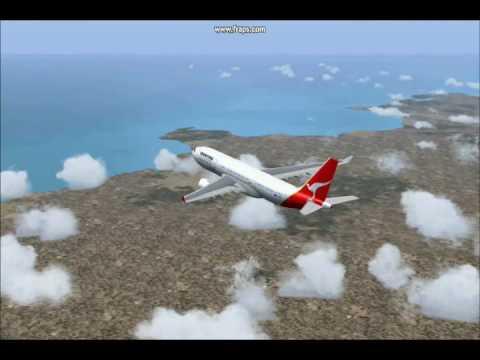 flight simulator 2004 sydney to mumbai by qantas youtube. Black Bedroom Furniture Sets. Home Design Ideas