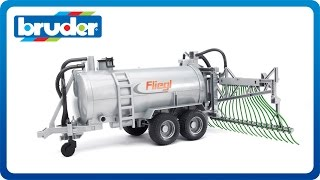 Bruder Toys Fliegl Barrel Trailer w. Spread Tubes #02020