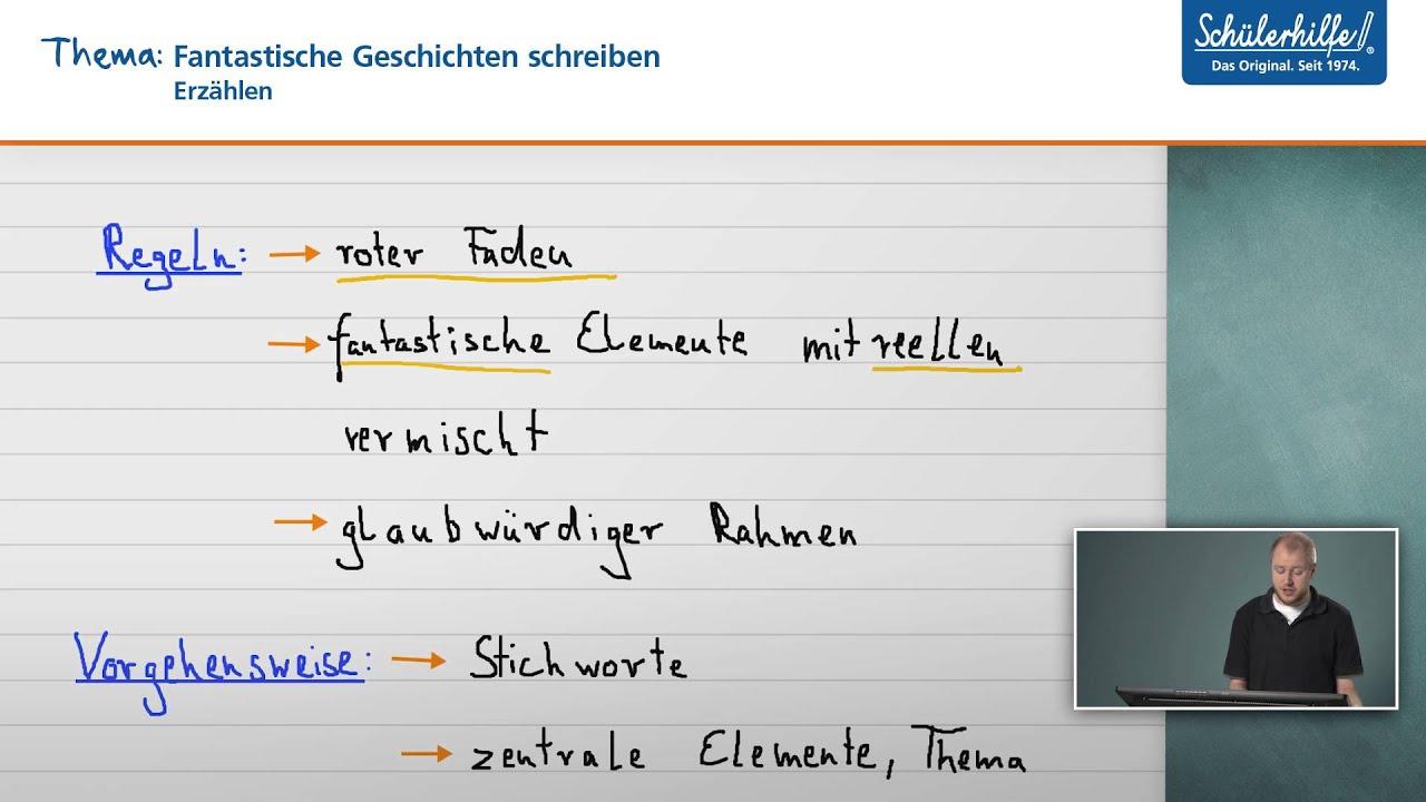 fantastische geschichten schreiben erzhlen deutsch schlerhilfe lernvideo youtube - Marchen Weiterschreiben 5 Klasse Beispiele