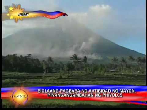 Mayon volcano is suddenly calm