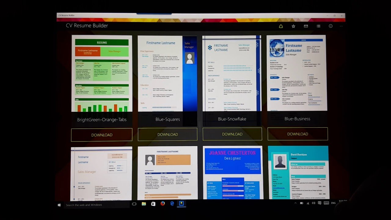 cv resume builder - what u0026 39 s on my surface pro 4