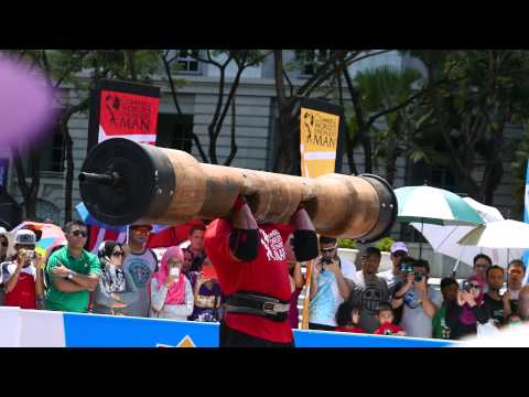 World's Strongest Man 2015 Final Day 2 - Log Press [Ultra HD 4K]