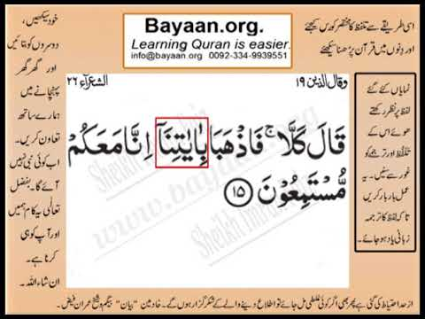 Quran in urdu Surrah 026 Ayat 015 Learn Quran translation in Urdu Easy Quran Learning