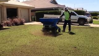 Cylinder Lawn Mowing ( Prepare Lawn ) Part 5/6