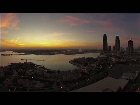 Places to go in Qatar. Pearl Doha- Time lapse. HD