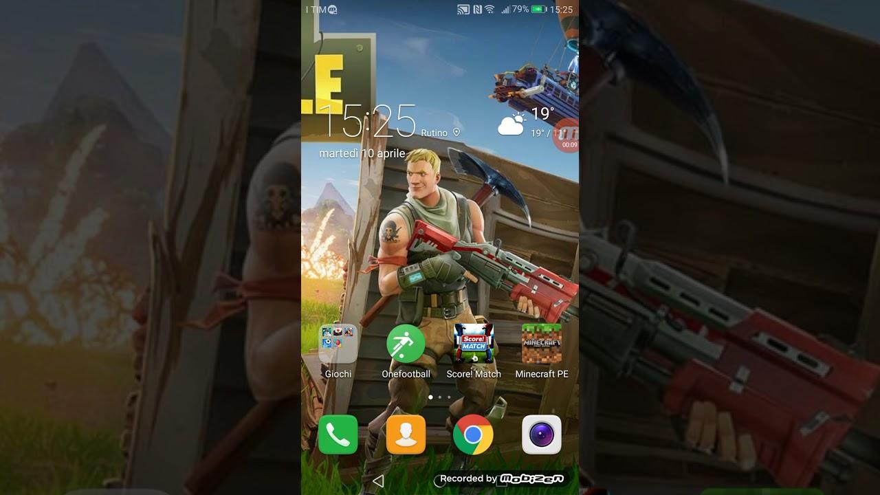 Come Scaricare Wallpaper Di Fortnite Su Android Youtube