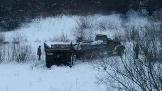 Урал грузовик вытаскиваем
