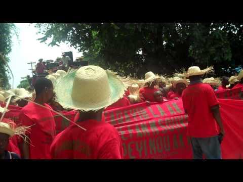 Mouvement paysan Papaye marches against Monsanto