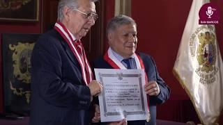 Tema: Distinción de profesor emérito al Dr. José Somocurcio