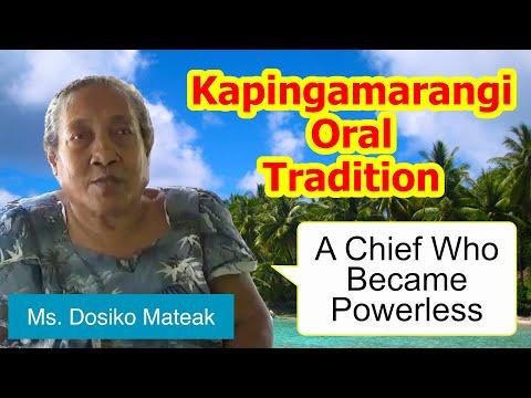 Legend of a chief who became powerless, Kapingamarangi Atoll