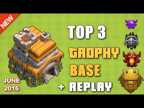 Clash Of Clans - TOP 3 TH7 TROPHY BASE 2016 (JUNE) + REPLAY ♦ Best Trophy Bases