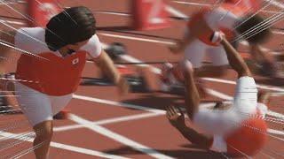 勢いつけすぎた、なうしろ陸上。 【東京オリンピック2020】【なうしろ】