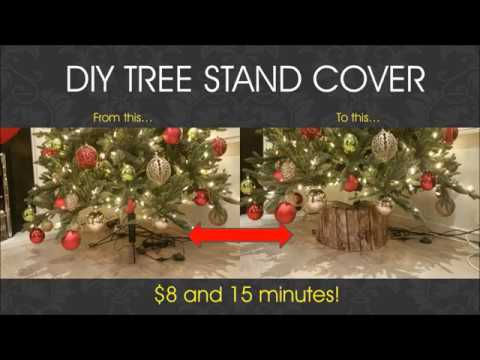 DIY Christmas Tree Base Stand Cover - Cheap and Fast!