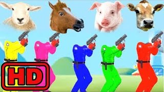 Kid -Kids -Learn Colors With FARM Animals Wrong Heads/Funny Kids Learning Animation/Bugs Insects