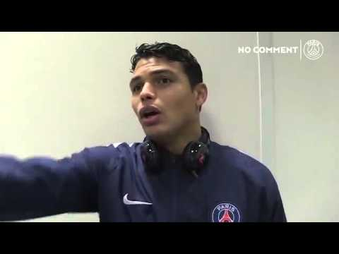 PSG's Thiago Silva enraged by Edinson Cavani as he interrupts interview with a hairdryer -PSG