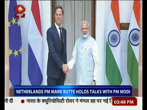 Netherlands PM Mark Rutte hold talks with PM Modi