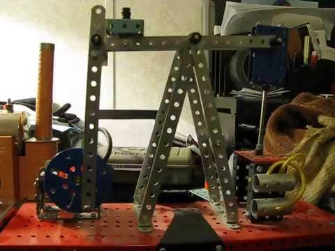 Erector set oil rig last run ( before modifications)