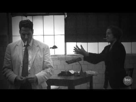 HIS GIRL FRIDAY: In Rehearsal