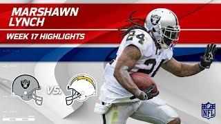 Marshawn Lynch Highlights | Raiders vs. Chargers | Wk 17 Player Highlights