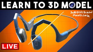 Create A Pair oḟ Headphones from Scratch in 3D | Subdivision Modeling Technique