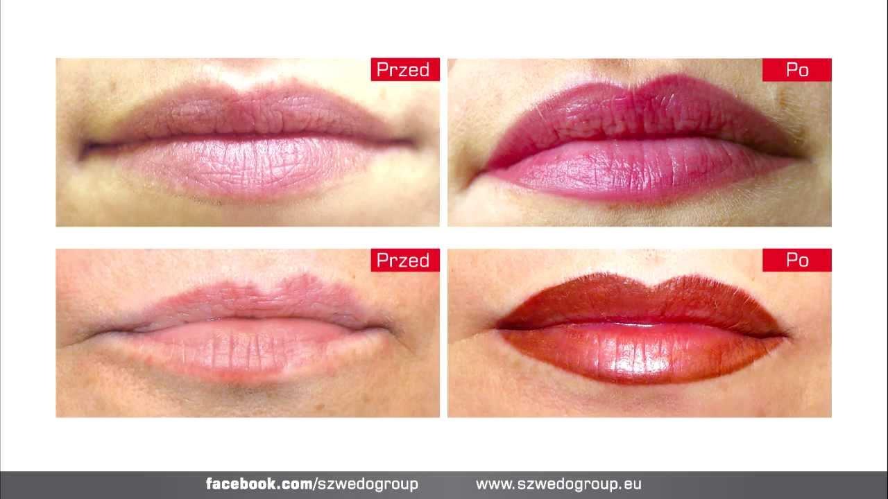 Makijaż Permanentny Oded Usta Youtube