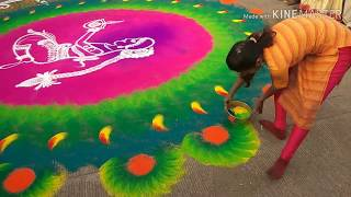 time laps rangoli (रांगोली )for womens day special