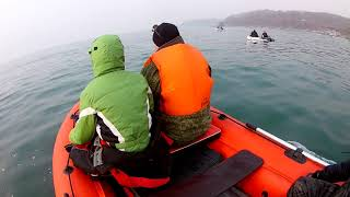 Первый выход на рыбалку 29.04.18 Владивосток, камбала, минтай. HYDRA 400 NOVA