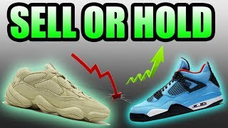 Should You SELL Or HOLD The SUPERMOON YELLOW Yeezy 500 + CACTUS JACK JORDAN 4 ( Travis Scott 4 )