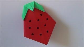 'strawberry'origami いちご 折り紙